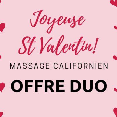 Sta Valentin massage californien en duo